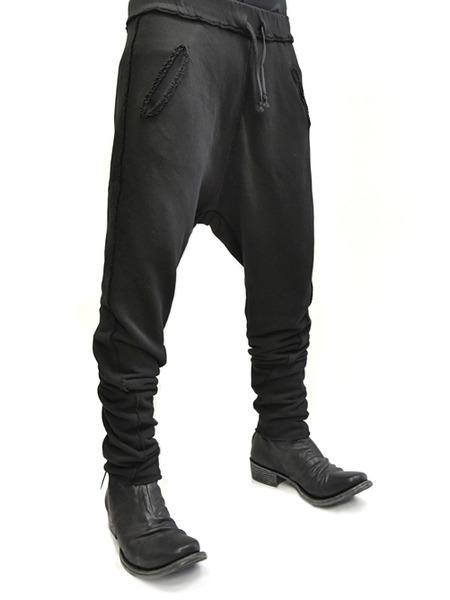 primordial crotch pants black 通販 GORDINI013