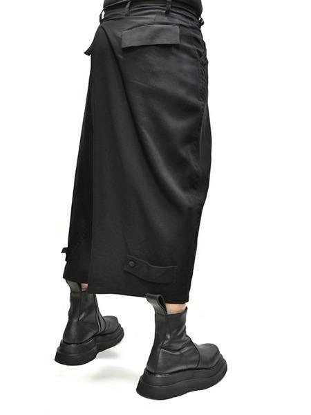 JULIUS wrap baggy trousers 着用 通販 GORDINI004