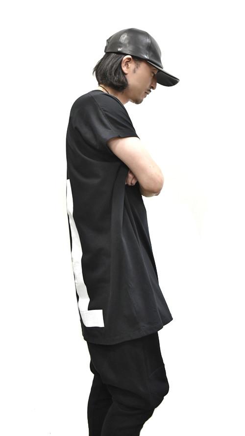 """NILøS Back """"家紋"""" T-Shirt 着用 通販 GORDINI003"""