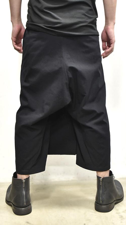 JULIUS wrap pants blk 通販 GORDINI008