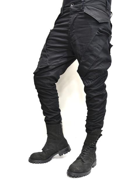 JULIUS ガスマスクパンツ 黒 通販 GORDINI003