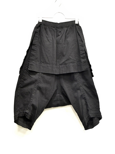 JULIUS layerd crotch blk 通販 GORDINI005