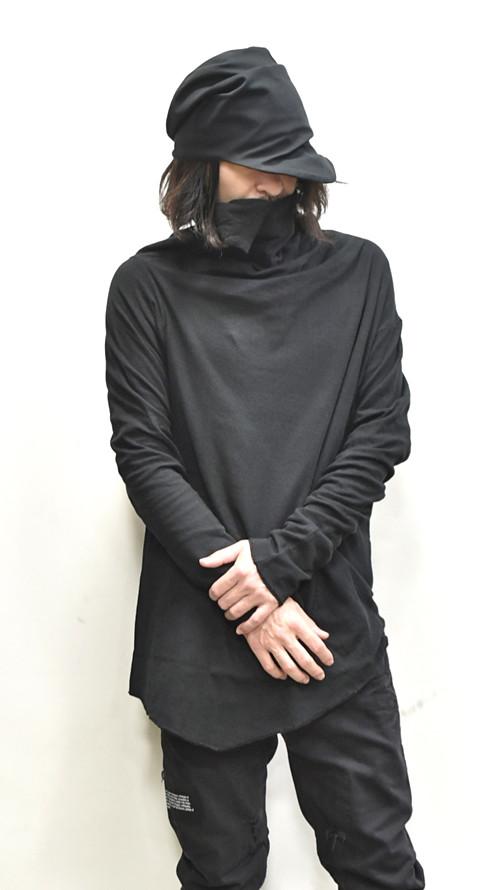 JULIUS ドレーピングネックカットソー 通販 GORDINI006