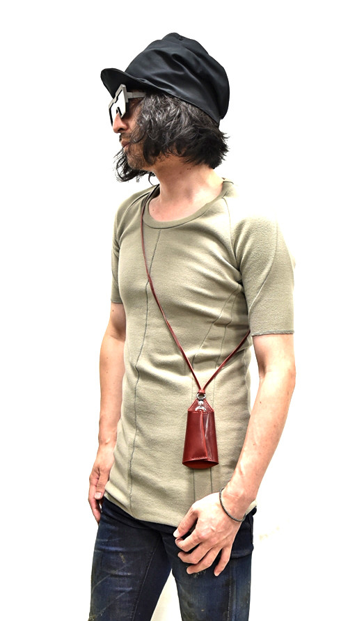 Portaille Neck Strap Key Case red 着用 通販 GORDINI003