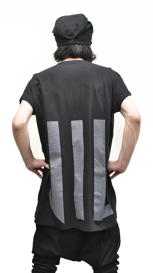 """NILøS Back """"家紋"""" T-Shirt 着用 通販 GORDINI005"""