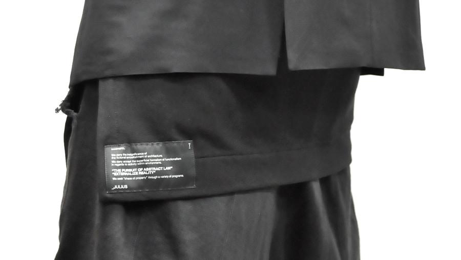 JULIUS ボリュームネック black 通販 GORDINI026