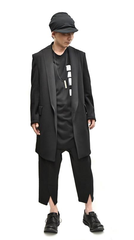 JULIUS tucked slit pants total  通販 GORDINI001