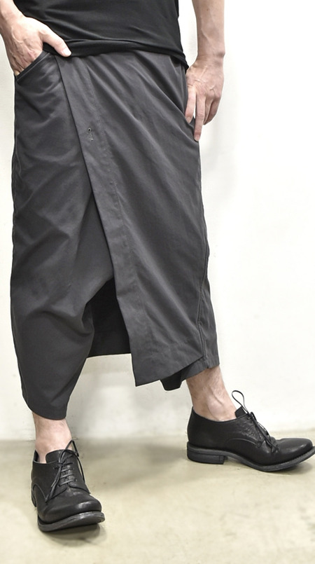 JULIUS wrap pants blk 通販 GORDINI016