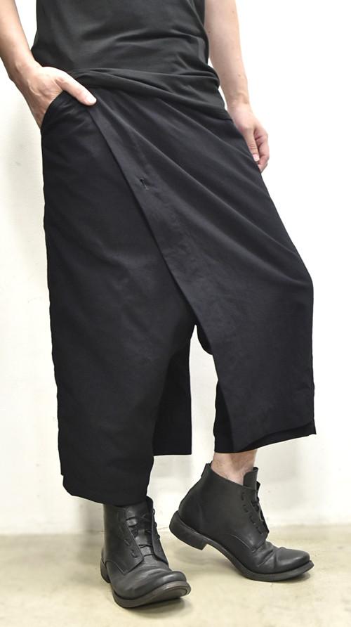 JULIUS wrap pants blk 通販 GORDINI002