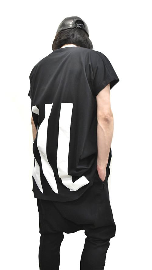 """NILøS Back """"家紋"""" T-Shirt 着用 通販 GORDINI004"""