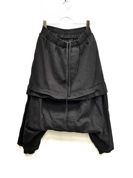 JULIUS layerd crotch blk 通販 GORDINI001