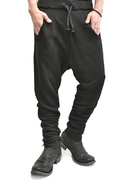 primordial crotch pants black 通販 GORDINI014