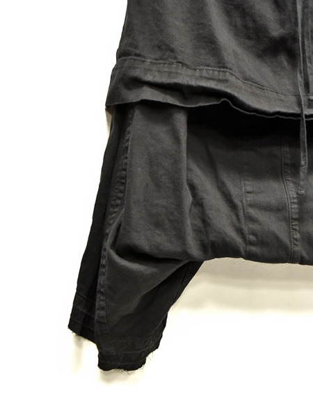 JULIUS layerd crotch blk 通販 GORDINI003