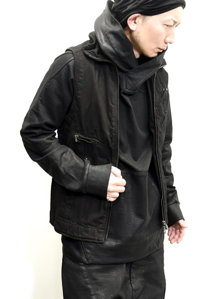 JULIUS coated pullover parka  通販 GORDINI008