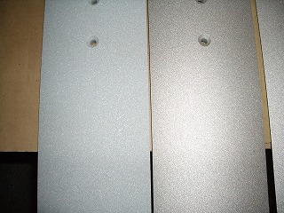 金属溶射品とサンドブラスト品
