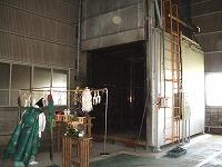 ふっ素樹脂大型焼成炉火入れ式
