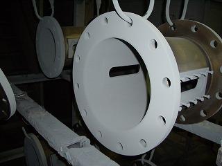 導電性フッ素樹脂コーティング加工中2