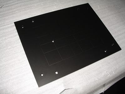 液晶アルミ盤の導電性フッ素樹脂コーティング
