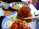 唐揚げトマトソース煮