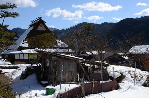 美山の雪景色12