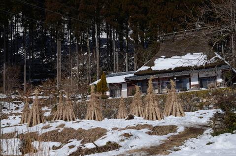 美山の雪景色16