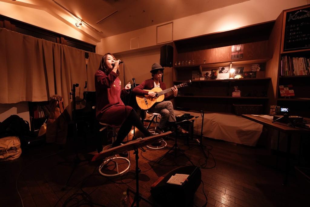 2019-02-02 - futarinote 1st Live at Cafe&Music Kirsche 03
