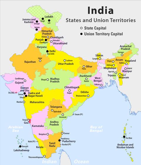 IndiaMap(states)