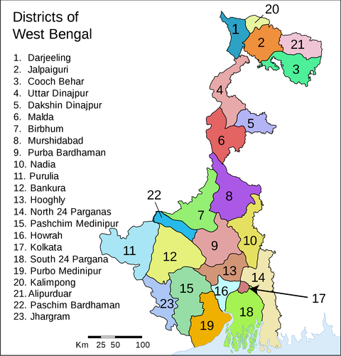 WestBengalDistricts_numbered