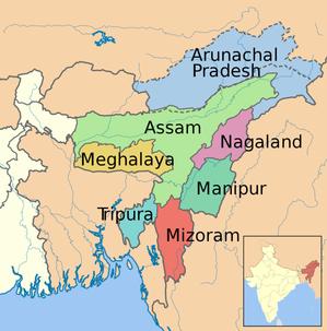 インド北東部