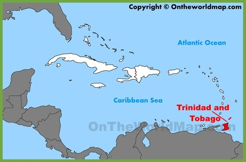 trinidad-and-tobago-location-on-the-caribbean-map