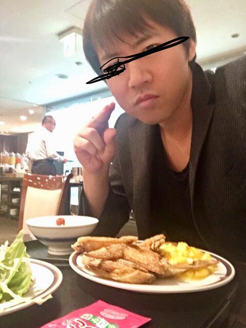 【画像】ワイイケメン(勝ち組)朝からホテルのビッフェをペロリ