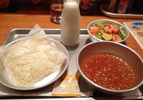 学校給食ソフト麺③