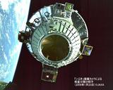 「いぶき」搭載カメラから撮影した衛星分離の様子