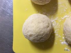 低糖質パンの生地を丸く