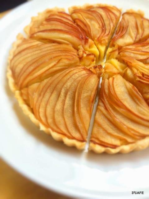 スイートポテトとりんごのタルト (2)