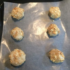 さといもとクッキーで揚げまんじゅう