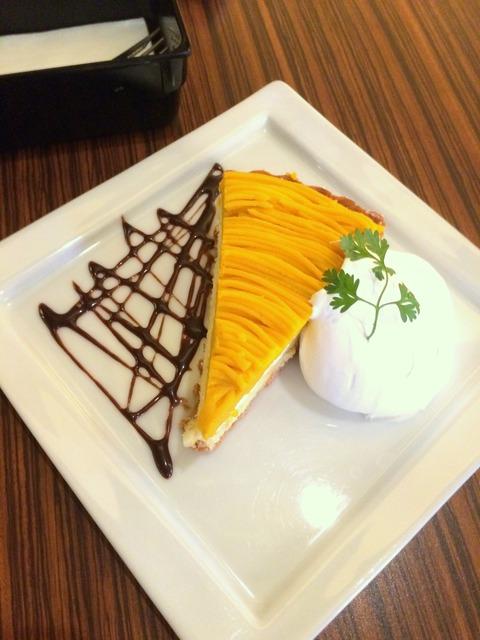 W cafe かぼちゃタルト