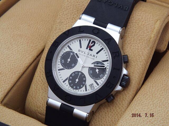 ブルガリ腕時計 アルミニウム クロノ