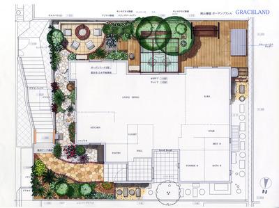 岡山邸 Plan A 平面1