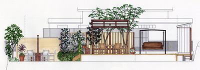 岡山邸 Plan A 立面1