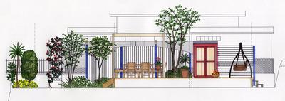 岡山邸 Plan B 立面1