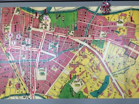 昔の豊橋市の地図