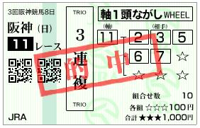 宝塚記念 3連複