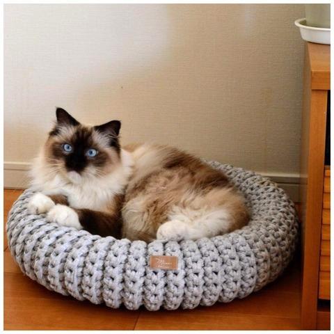 猫ベッド_ライトグレー