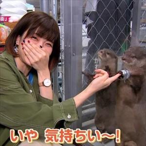 【朗報】諏訪彩花さん(30)、カワウソより可愛くなってしまう