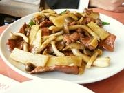 R0012748_福満園新館のランチ牛肉の薄切りカキソース炒め650円