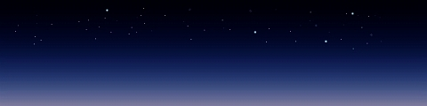 黄昏の星空