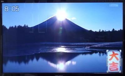 富士山からの初日の出ダイヤモンド富士_2021_1_1