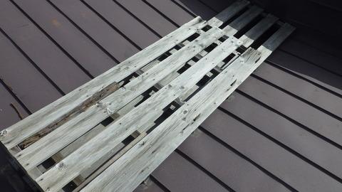 屋根木製ダクトカバー
