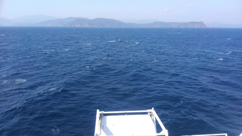 穏やかな海でした